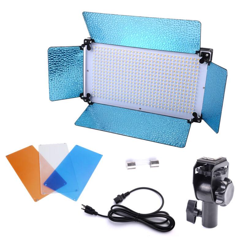 Pro Photo Studio 500 LED Video Light Panel 5500K Dimmer Portrait Lighting Kit