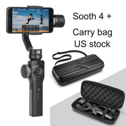 Zhiyun Smooth 4 Black Gimbal Stabilizer for Smartphones +carry Bag US
