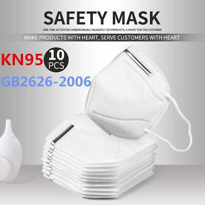 10pcs Kn95 Disposable Face Mask Cover Particulate Respirator Kn-95 Non Medial