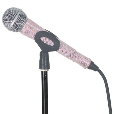 MicFX Corded Microphone Sleeve Glitter Effect Range (Colour Soft Pink) (Microphone Glitter)