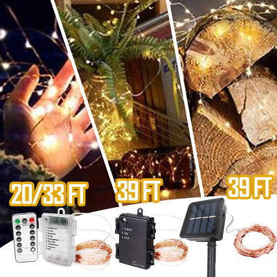 LED Fairy String Light Indoor/Outdoor Wedding Party Xmas Decor Lights 20-39ft Indoor Christmas Decorations