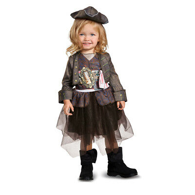 Pirate Baby Girl Costume (Infant Girls Captain Jack Tutu Pirate Halloween)