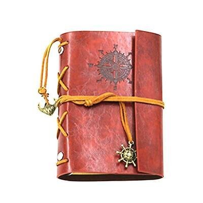 MOONPOP Retro Vintage Pirate Travel Journal Diary PU Leather Notebook