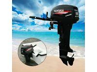 2 Stroke 246CC HANGKAI Outboard Motor Boat Engine Water Cooling CDI Heavy Duty