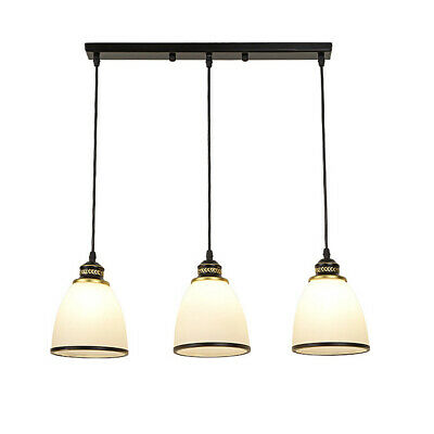 3 Lights Pendant Glass Shade Bowl Shape Hanging Lamp Ceiling Lighting - Glass Ceiling Pendant Light Fixture