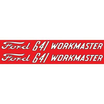 Dec299 Fits Ford 641 Workmaster Mylar Hood Decals Pair Fits Ford