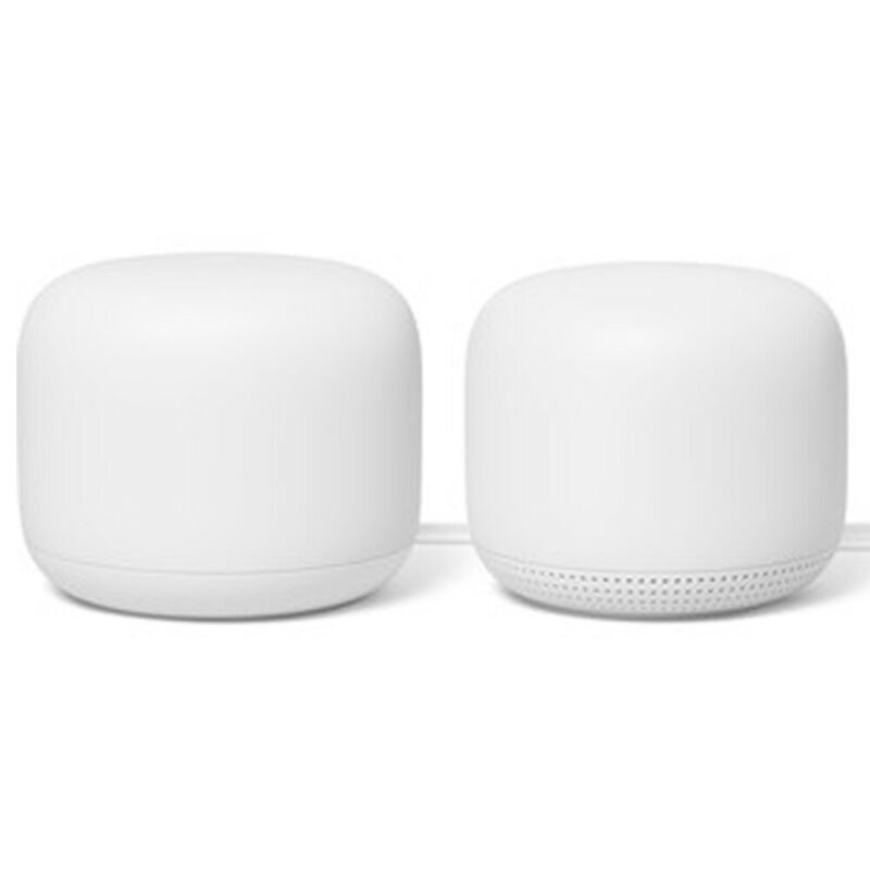 Google Nest Wifi Router Dual Band Mesh System AC2200 + Access Point 2-Pack GA008