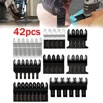 42pcs Saw Blade Oscillating Multi Tool Fein Bosch Dewalt Porter Cable Milwaukee