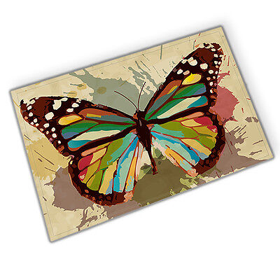 Butterfly specimen Absorbent Flannel Bathroom Floor Shower Mat Rug Non-slip new](Butterfly Bathroom)