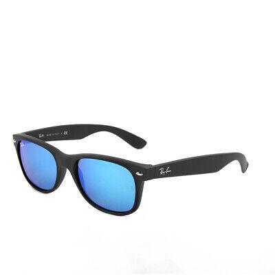 Ray-Ban New Wayfarer RB2132 622/17 55 Matte Black Blue Mirrored Sonnenbrille