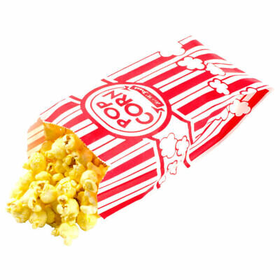 Carnival King Paper Popcorn Party Bags 1 Ounce Bag Red And White Striped 200 Cnt