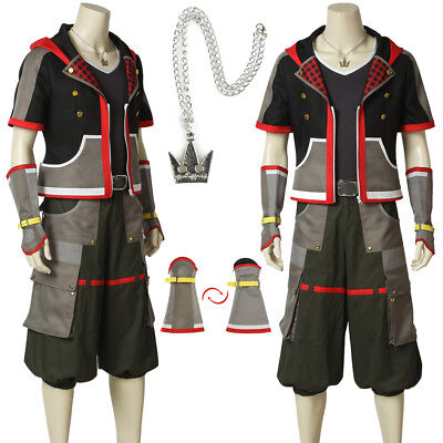 Kingdom Hearts Costume 3 Sora Cosplay Costume Halloween Custom Made Fancy Dress