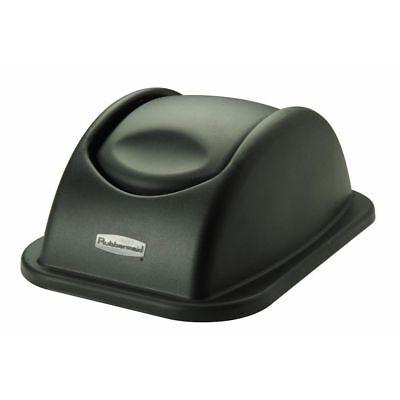 Rubbermaid 306700BLA Black Plastic Swing Top Lid For 41 qt Soft-Side Wastebasket