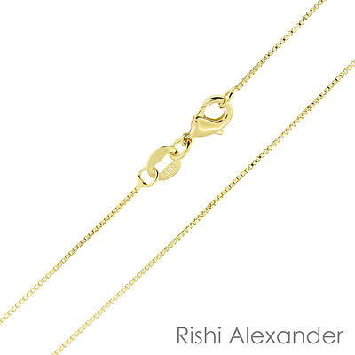 18k Gold Filled Box Chain Necklace 0.8mm