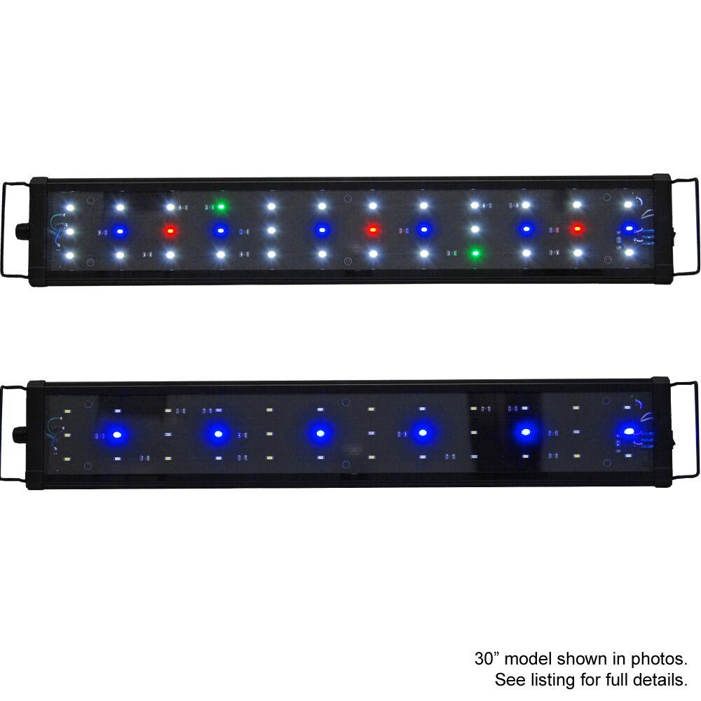 """T5 Quad 72 Lighting Aquarium Light Saltwater Reef 320w: Beamswork 72"""" EA 180 Timer FSpec 0.50W LED Aquarium Light"""