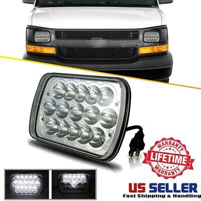"7x6"" 5X7"" LED Headlight HI-LO Chrome For Chevrolet Express 1500 2500 3500 Astro"