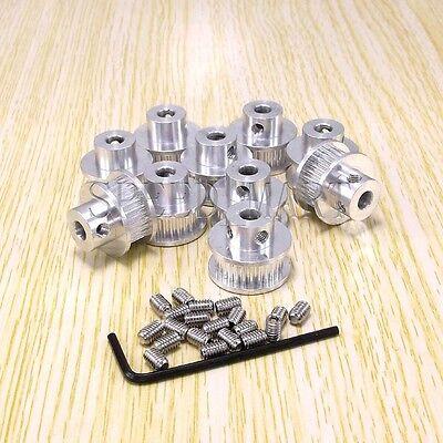 10pcs Gt2 Timing Pulleys 28 Tooth 6mm Bore For Reprap Prusa Mendel 3d Printer