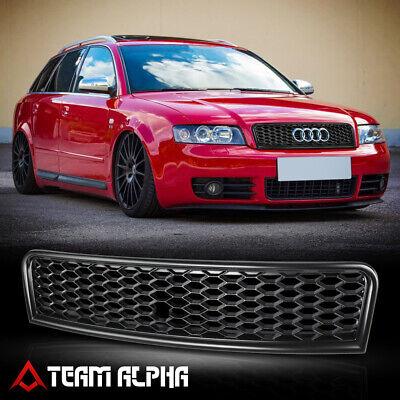 Fits 2002-2005 Audi A4/S4 B6Matte Black Bumper Grille Grill