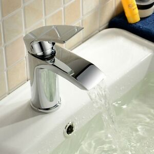 Waterfall Cloakroom small Basin Square Mono Mixer Tap Mini Vago SB07 Luxury