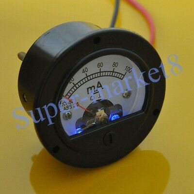 100ma Dc Panel Meter With Blue Back Light For 300b 211 845 50 Tube Amplifier