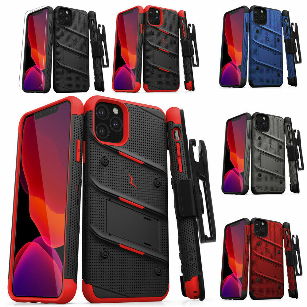 iPhone 11 Pro / iPhone 11 Pro MAX Case Zizo Bolt with Temper