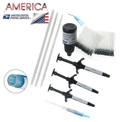Dental Ortho Bonding Light Cure Orthodontic Adhesive Kit  Primer  Brushes