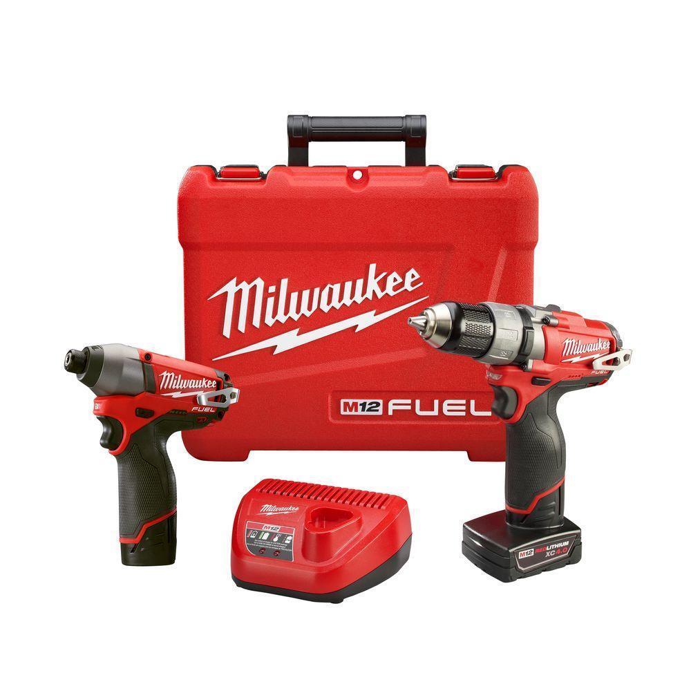 Milwaukee 2594-22 M12 12V FUEL Drill / Impact Driver Cordless Combo Kit - NEW !!