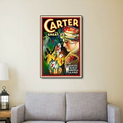 24 X 36 Vintage-Look Reproduction C1920s Carter Vintage Magic Poster Wall Art - $39.99