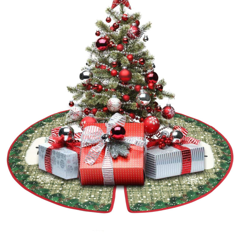 Christmas Tree Skirt Mat Xmas Home Party