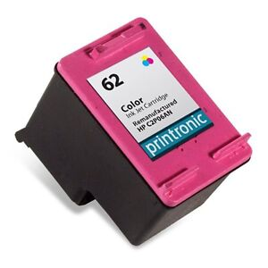 Remanufactured hp 62 color ink cartridge for envy 5640 5660 7640