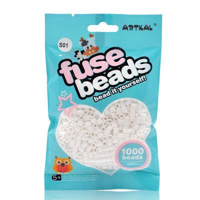 Artkal 1000 midi Bügelperlen 5mm White / Weiß S01 , Fuse beads