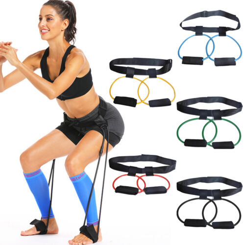 Booty Butt Band Workout Resistance Belt, Tone Firm Gym Fitnesss Exercise Unisex Fitness Equipment & Gear