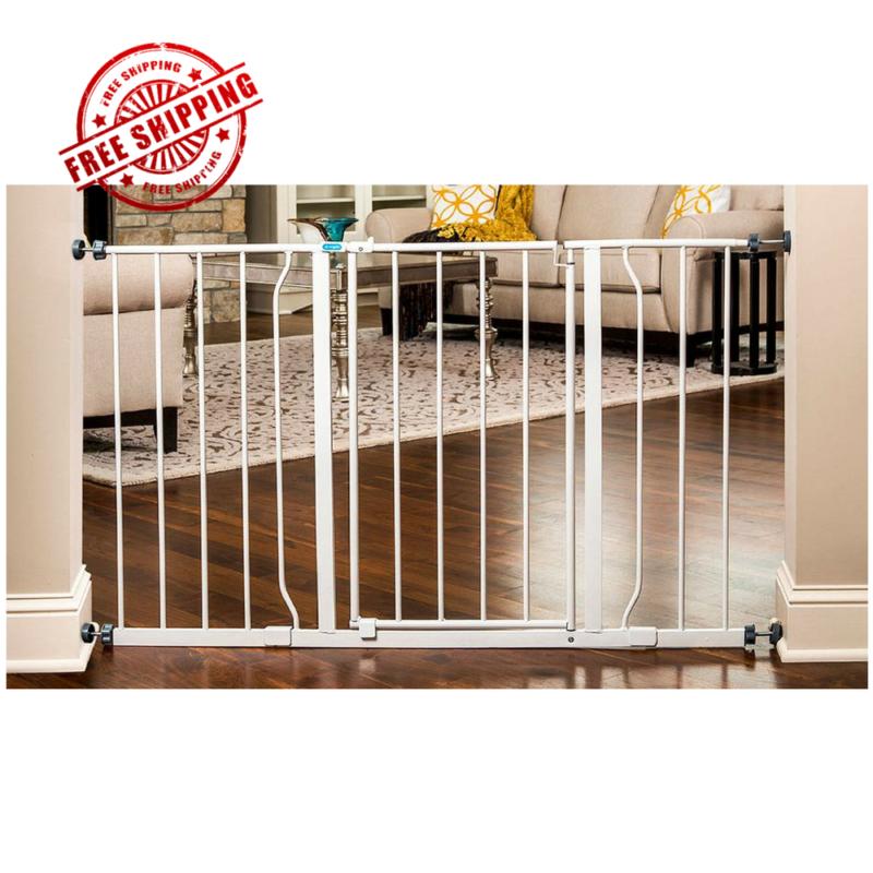 Walk Through Safety Locking Child Baby Proof Gate 50 Inch wi