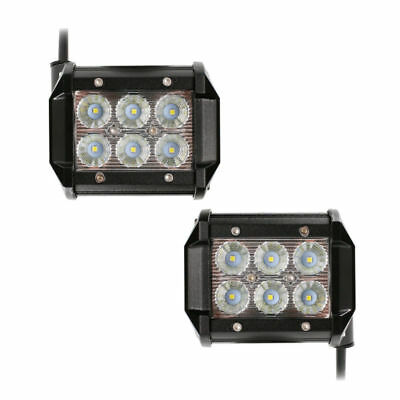 "2 x Light Bar 4"" LED 18W Flood Motorcycle Work ATV Off-Road Fog Driving Cree UTV"