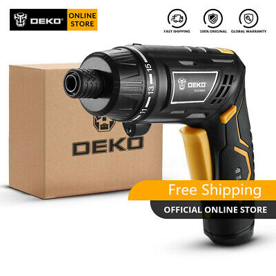 DEKO Cordless Electric Screwdriver Household DIY Rechargeable Power Screwdriver