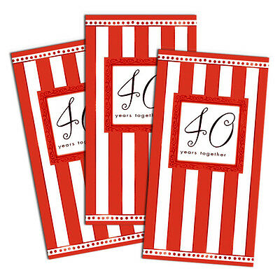 8 Ruby Red 40th Anniversary 40 Years Together Party Invites Invitations (40th Anniversary Invitations)