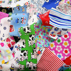 Children 39 s fabric scraps value pack bundle offcut mixed for Childrens fabric