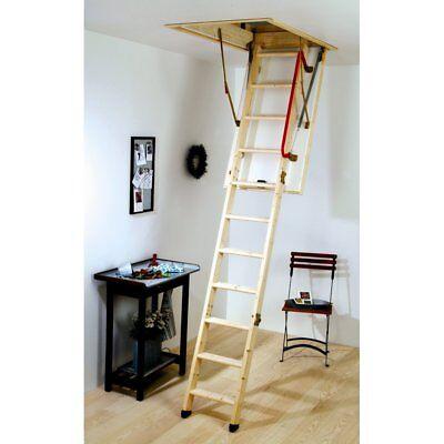 Youngman Eco S Line Wooden Timber Folding Loft Ladder Hatch Frame Handrail