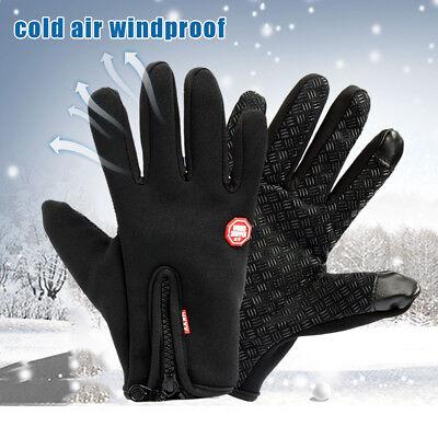 (Men Women Winter Thermal Touch Screen Gloves Warm Waterproof Driving Gloves USA)