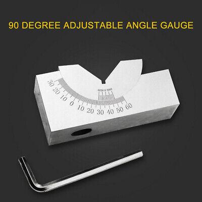 Mini Adjustable Angle V Block 0 To 60 Angle Gauge Tool Precision Blocks