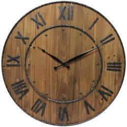 Wine Barrel 24 in. H x 24 in. W Round Wall Clock by  Infinity Instruments