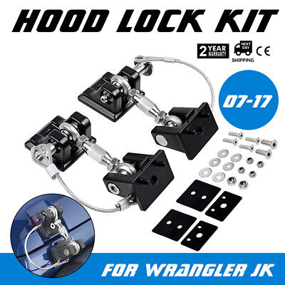 Hood Catch Lock Latch Bracket Holder Fit 2007+ JEEP Wrangler JK JL Unlimited JKU - Hood Latch Bracket