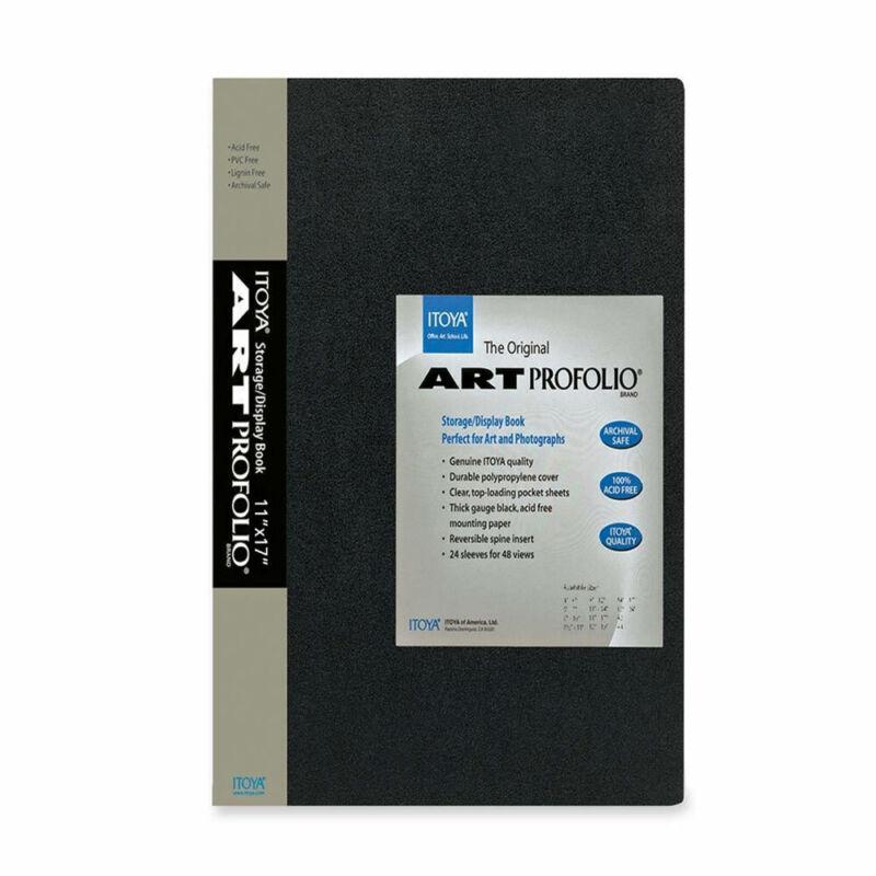 "Itoya Art Portfolio Top Load  Storage Display Book Album 11 x 17"" Black IA-12-12"