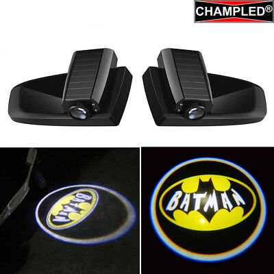 Champled For Batman Car Led Door Projector Logo Shadow Lights Emblem Wireless