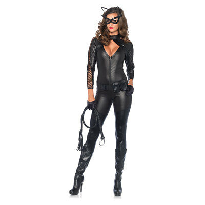 Wicked Kitty Costume (Womens Sexy Wicked Kitty Catsuit)