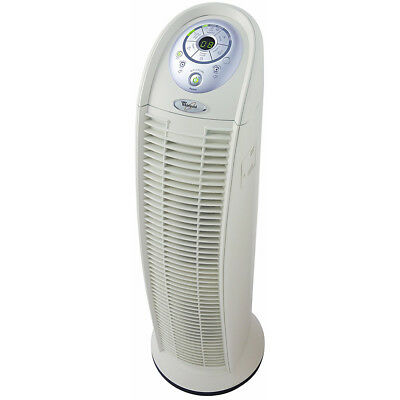 Swirl HEPA Tower Air Purifier with 3 Fan Speeds, Timer & VOC Sensor, White