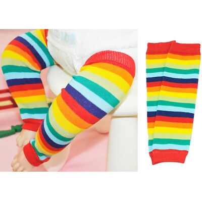 Colorful Baby Leg Warmers - Baby Toddler Child Colorful Rainbow Color Stripe Socks Tights Arm Leg Warmers
