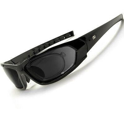 Daisan Sportbrille mit Optik-Clip für Sehstärke - polarisierende Sonnenbrille