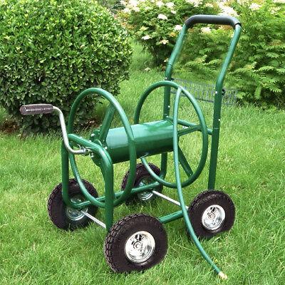Garden Water Hose Reel Cart Outdoor Heavy Duty Yard Planting W/Basket Home & Garden