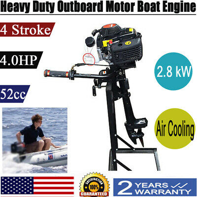 Hangkai 4 Stroke 4hp Boat Engine Outboard Motor 2.8kw Wcdi Air Cool System 52cc